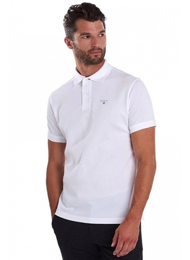 Barbour Tartan Pique Polo Yaka Wh11 White-Dress Beyaz